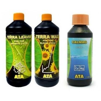 Trypack Atami Terra Max Leaves Calmag 3x250ml