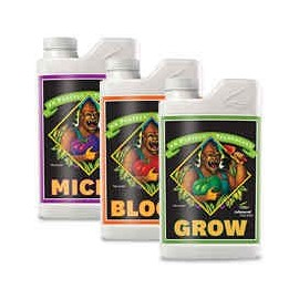 Zestaw nawozów Advanced  Nutrients Grow Bloom Micro 3x1L
