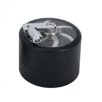 Grinder metalowy z kolba do mielenia ziol BLACK